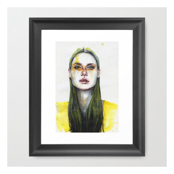Yellow Lemongrass Framed Art Print ($37) ❤ liked on Polyvore featuring home, home decor, wall art and framed art prints