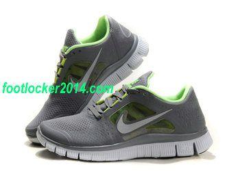 Nike Free Run 3 5.0 Dark Gray Green Womens Running Shoe
