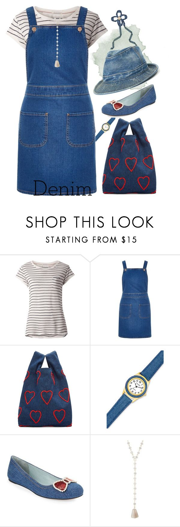 """""""Untitled #6684"""" by ana-angela ❤ liked on Polyvore featuring Tommy Hilfiger, River Island, Ashish, Marc Jacobs, Spring Street and denim"""
