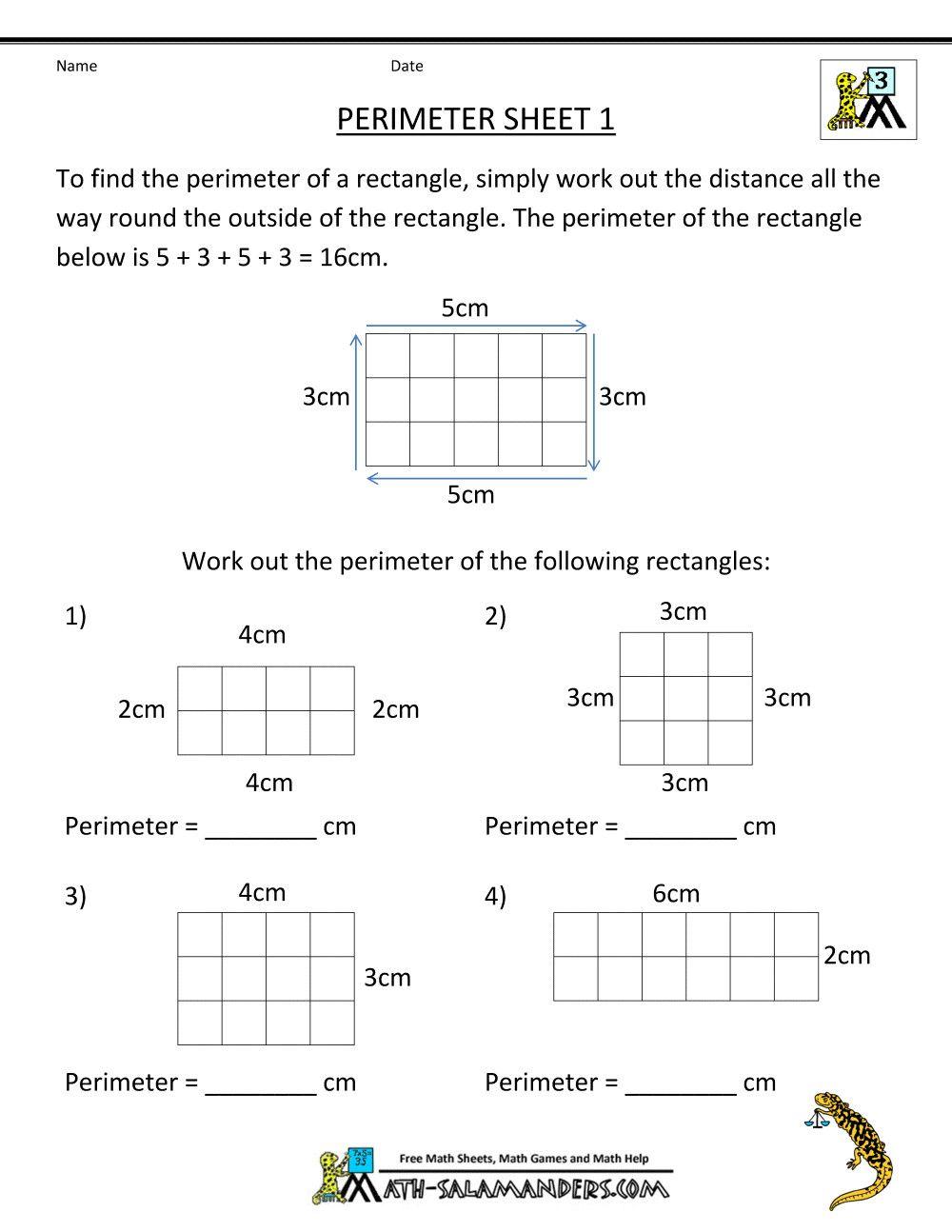 2 Capacity Worksheets Grade 2 free 3rd grade math worksheets perimeter 1    3rd grade math worksheets [ 1294 x 1000 Pixel ]