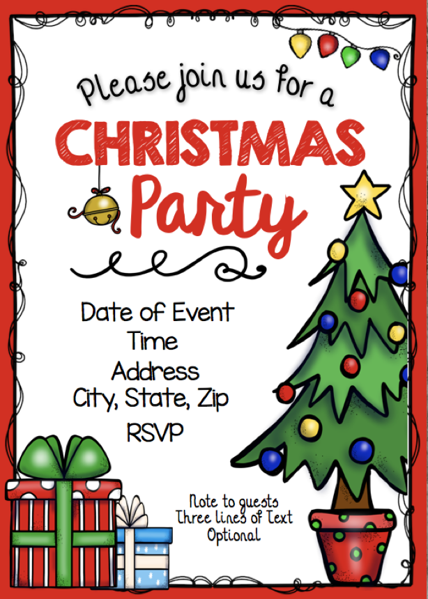 Christmas Party Invitation Editable Diy Printable Pdf Kids Church School Birthday Instant Download Holiday Get Together Christmas Party Invitations Diy Christmas Party Christmas Concert