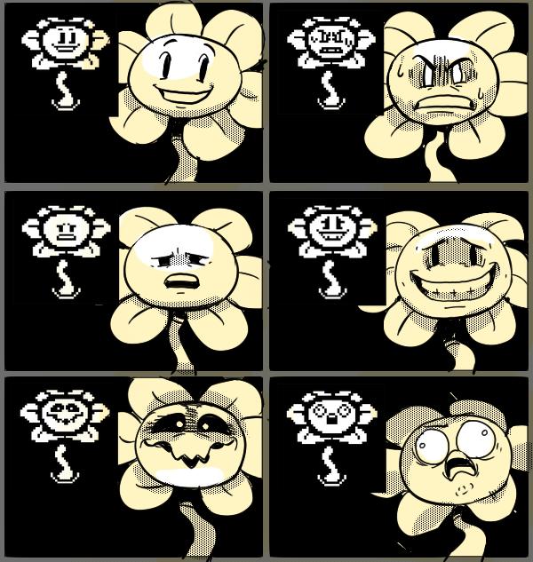 Undertale Flowey Faces