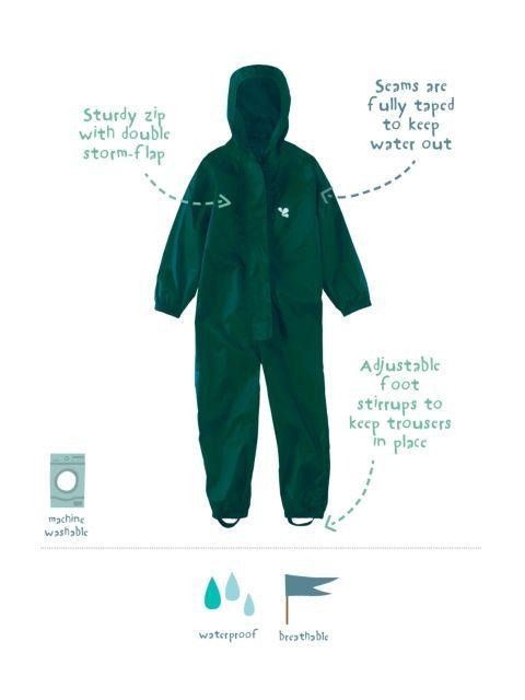 Het ultieme kinderregenpak dat tegen een stootje kan. Ideale regenoverall uit