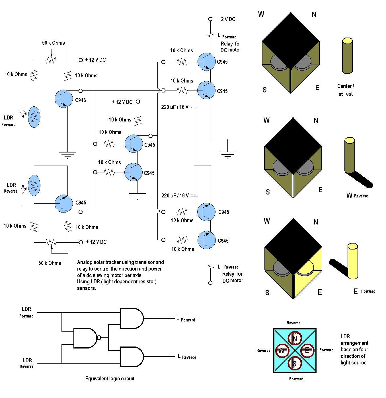 Diy Solar Tracker System Circuit Power Shock Alarm Electronic Circuits And Diagramelectronics