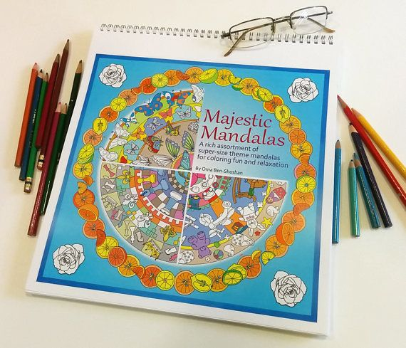 The Largest Mandala Coloring Book You Will Ever Find Majestic Mandalas Jumbo Size 12x12 Containing 30 Themed 35 Off Coupon