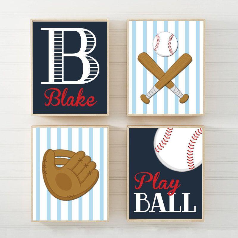 Baseball Wall Art Theme Decor Canvas Or Prints