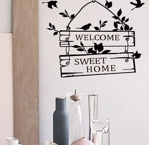Details About Traditional Peace Welcome Home Black Wall Decal Wall