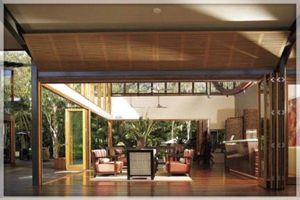 Sleek Folding Patio Doors Exterior | Windows | Pinterest | Folding ...