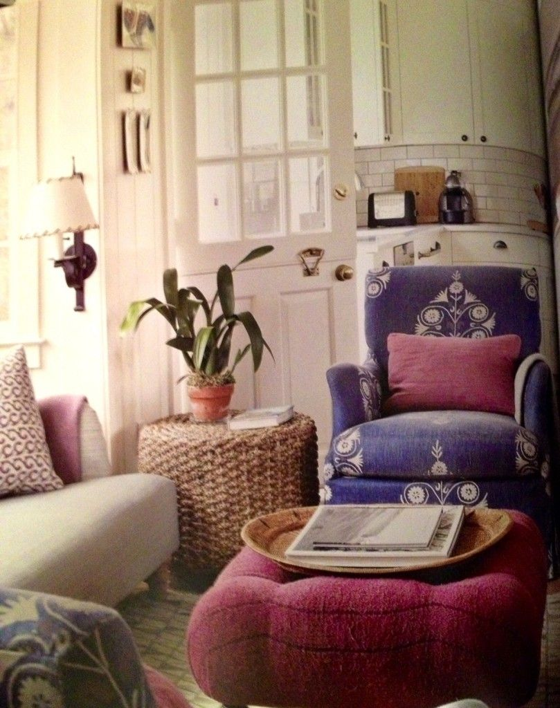Tom Scheerer Tom Scheerer Decoratespurple Fuchsia Living Room Rattan