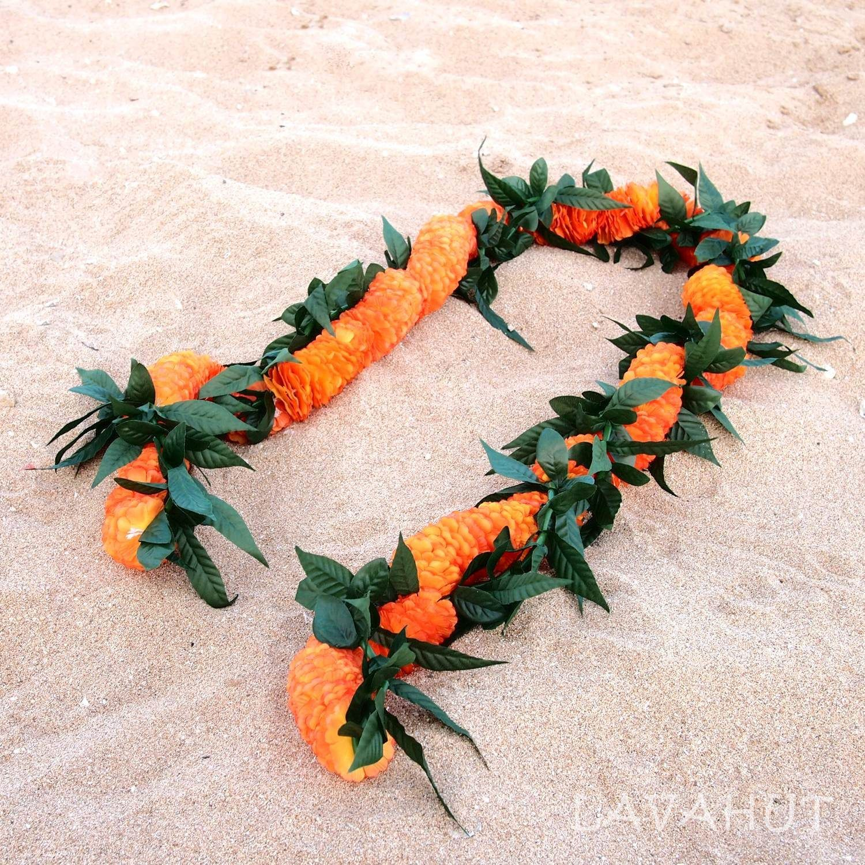 Maile leaves with ilima hawaiian flower lei flower lei hawaiian maile leaves with ilima hawaiian flower lei izmirmasajfo Gallery