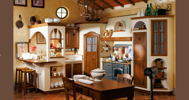Cucina rustica con credenza angolo arredamento shabby for Pinterest arredamento