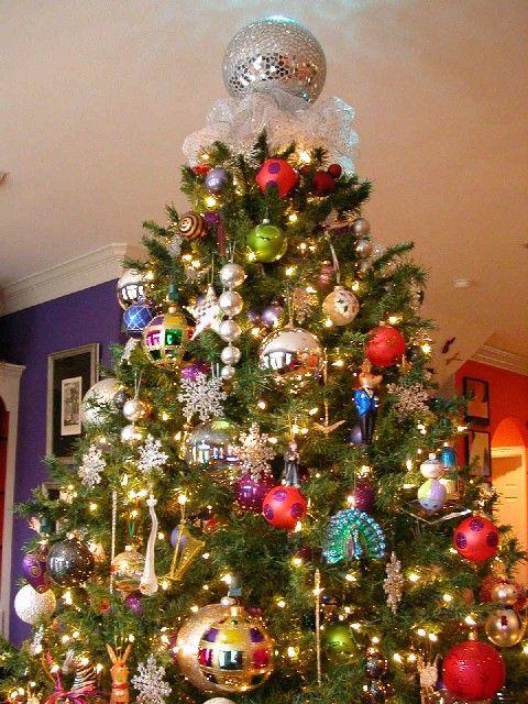 Love The Disco Ball Tree Topper Christmas Tree Themes Christmas Tree Decorations Xmas Decorations