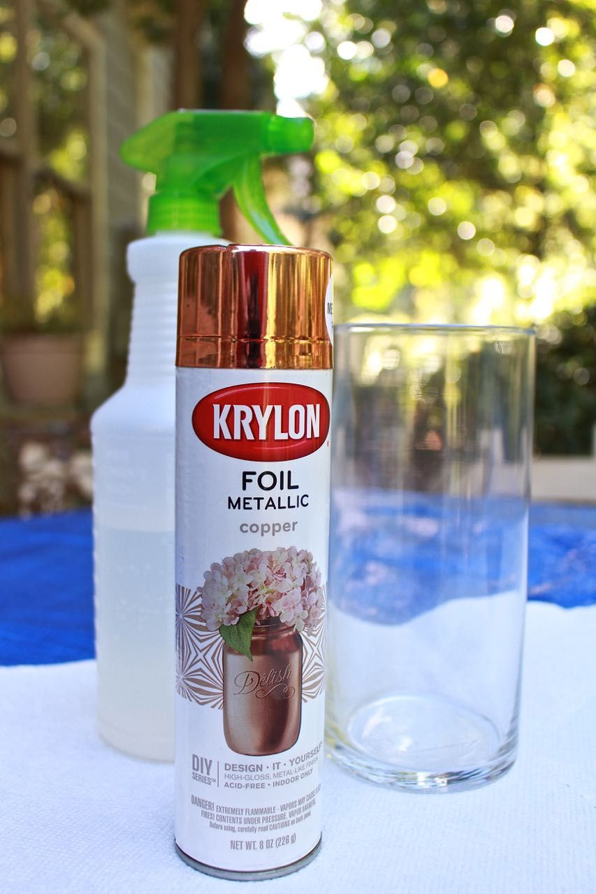 Diy Copper Mercury Glass Votives Mercury Glass Centerpiece