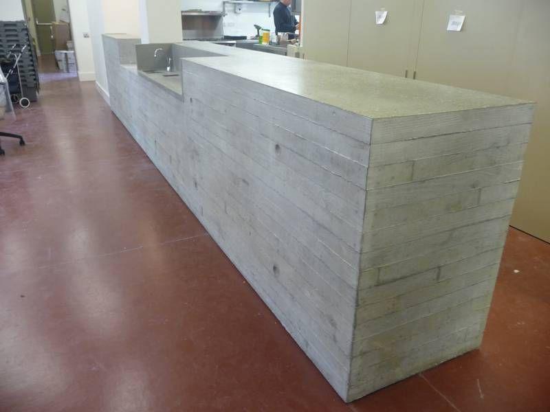 Polished concrete worktops kitchens posto restaurant for Polished concrete kitchen countertops