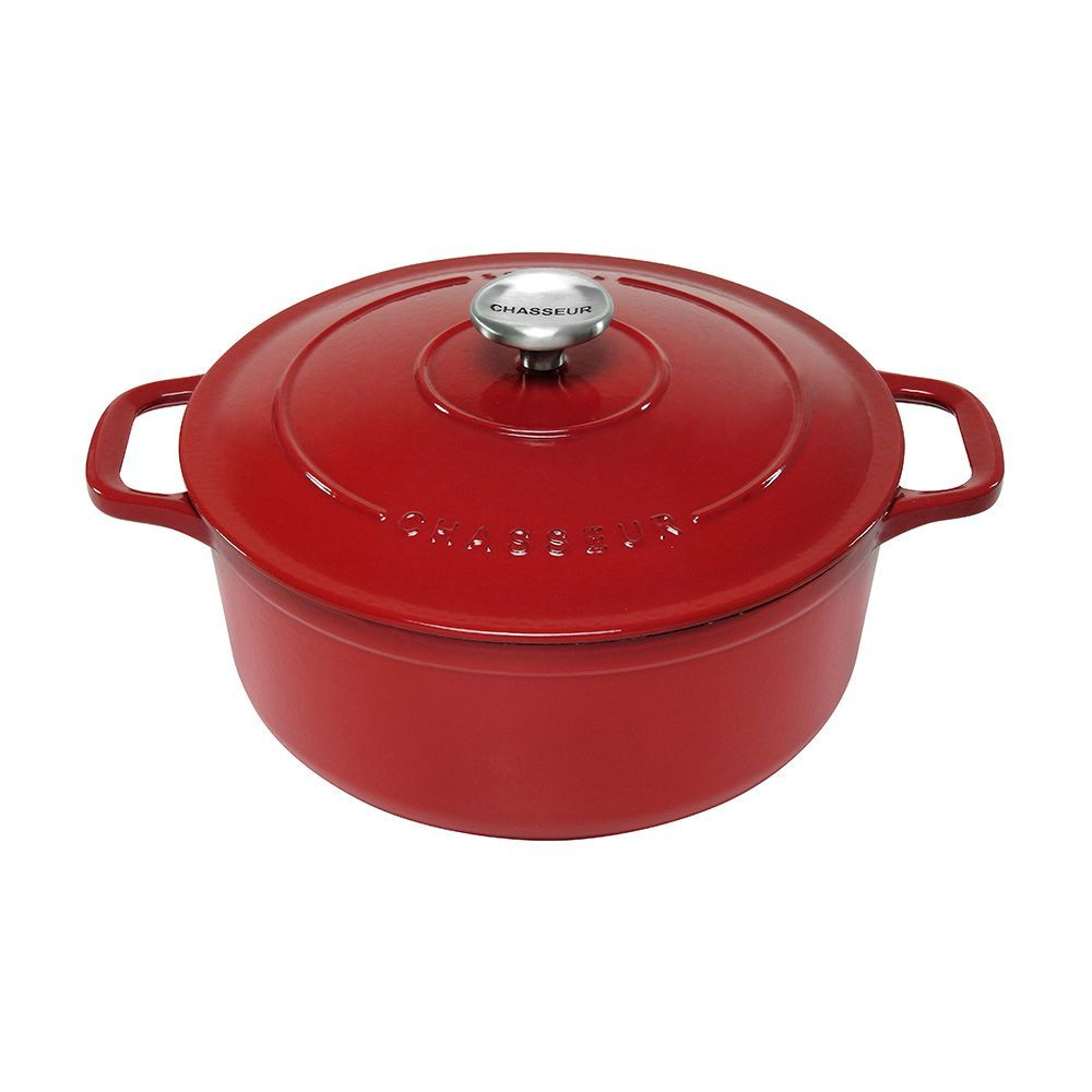 Chasseur Cast Iron Round French Oven 22cm 3 Litre Federation Red Cast Iron Induction Oven Cookware Sets