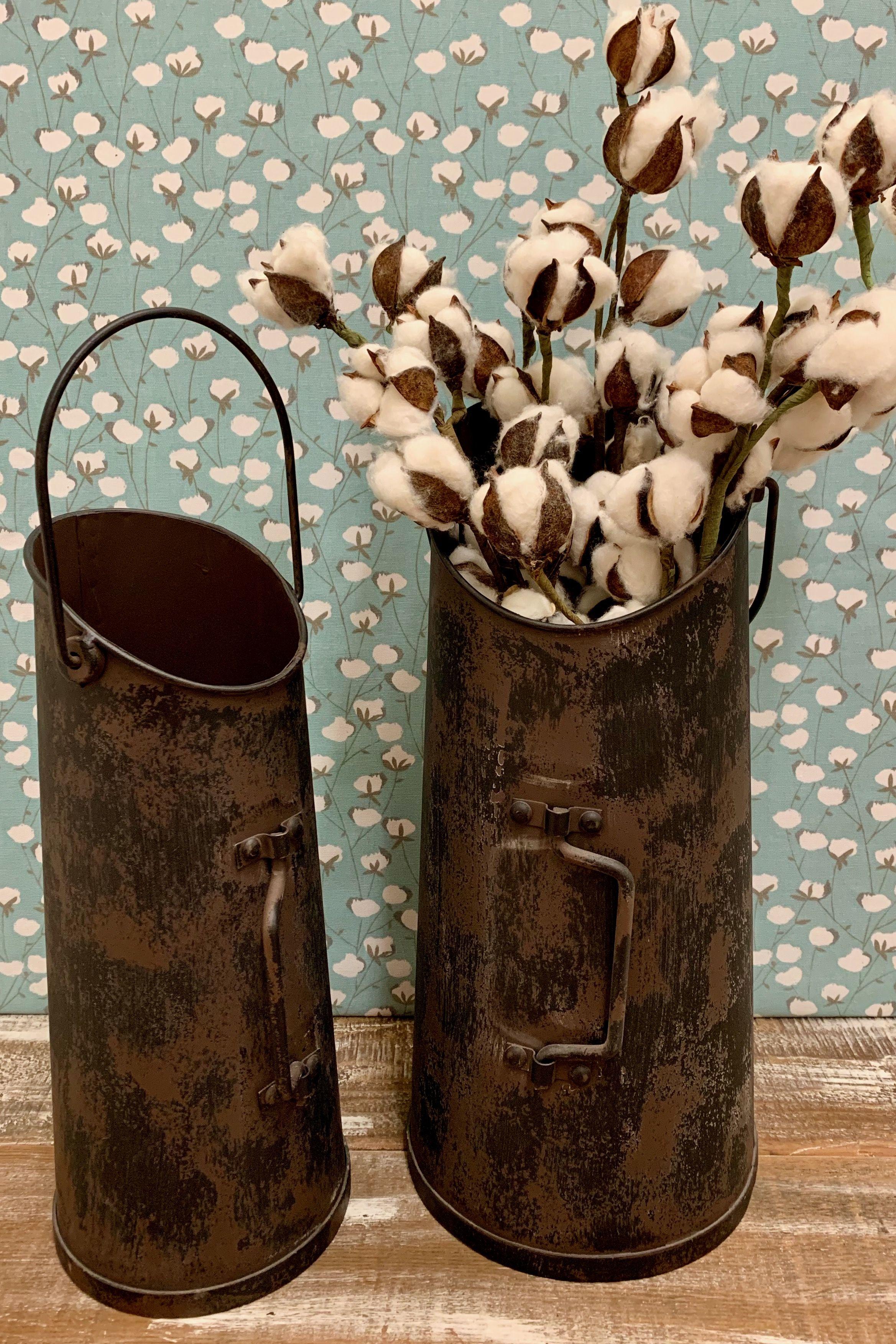 Metal Flower Buckets In 2020 Metal Flowers Metal Flower Pots Metal
