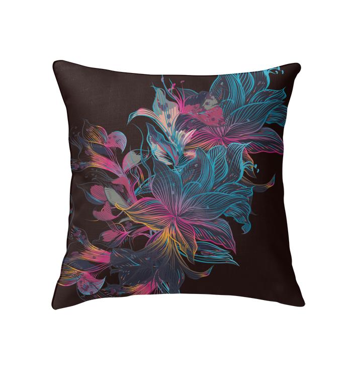 vintage floral throw pillows blue floral throw pillows