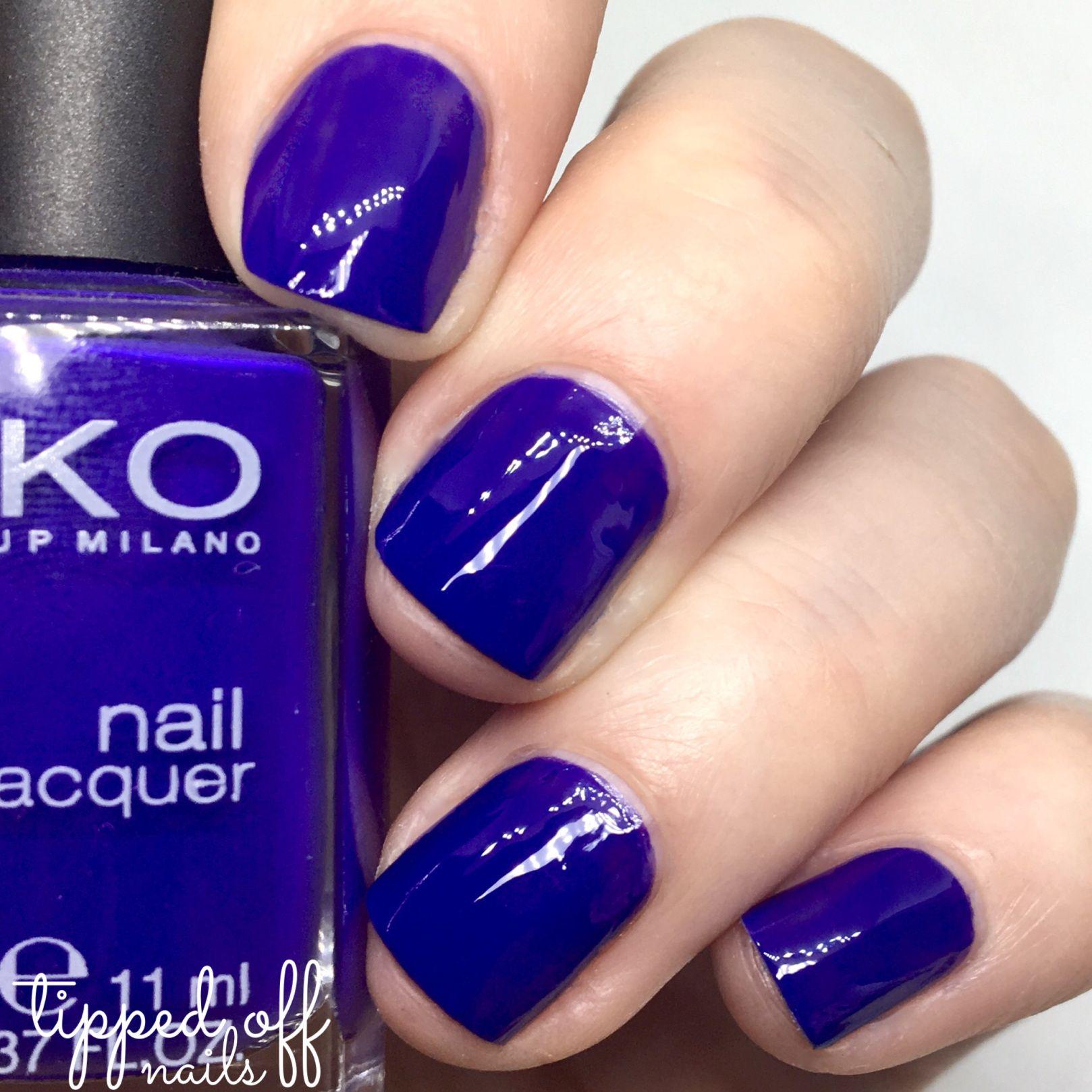 Kiko Milano: Part Four – Blues, Purples & Plums   Swatch