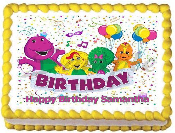 Amazing Barney 1 Edible Image Cake Topper 1 4 Sheet 1 2 Sheet By Galimeli Personalised Birthday Cards Xaembasilily Jamesorg