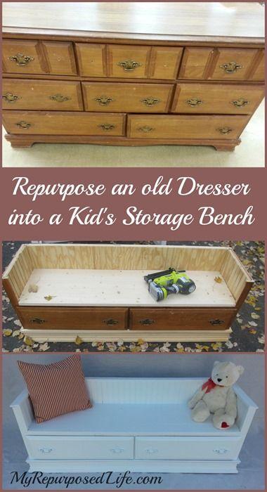Repurposed Dresser Bench Repurposed Furniture Repurposed