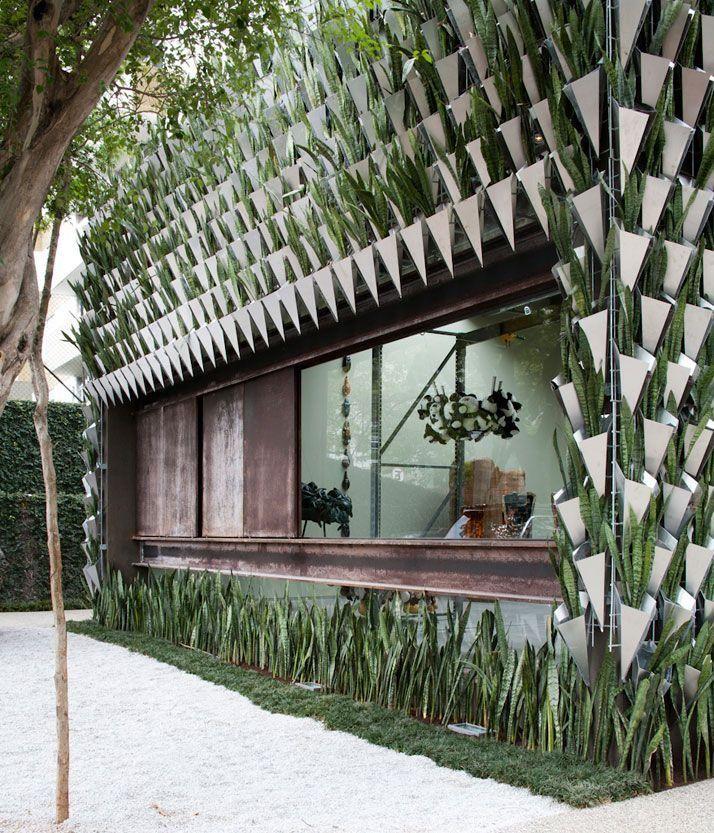 Fachada com jardim vertical Arquitetura Pinterest Fachadas - fachadas originales