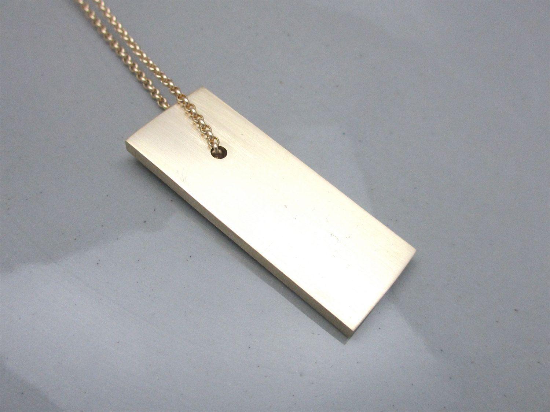 Anniversary Necklace Aluminum Necklace Aluminum Jewelry Minimalist Column Necklace