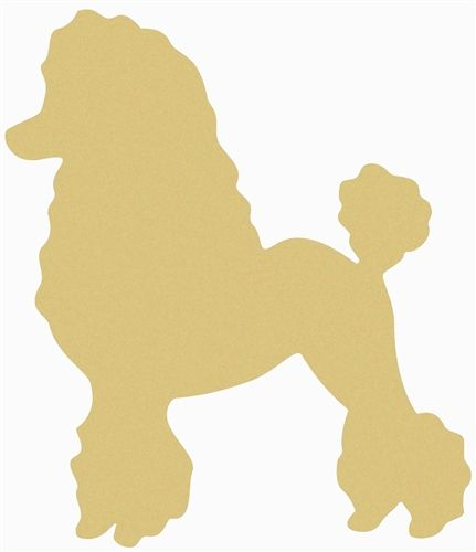 Photo of Poodle Unfinished Cutout, Wooden Shape, Paintable Wooden MDF
