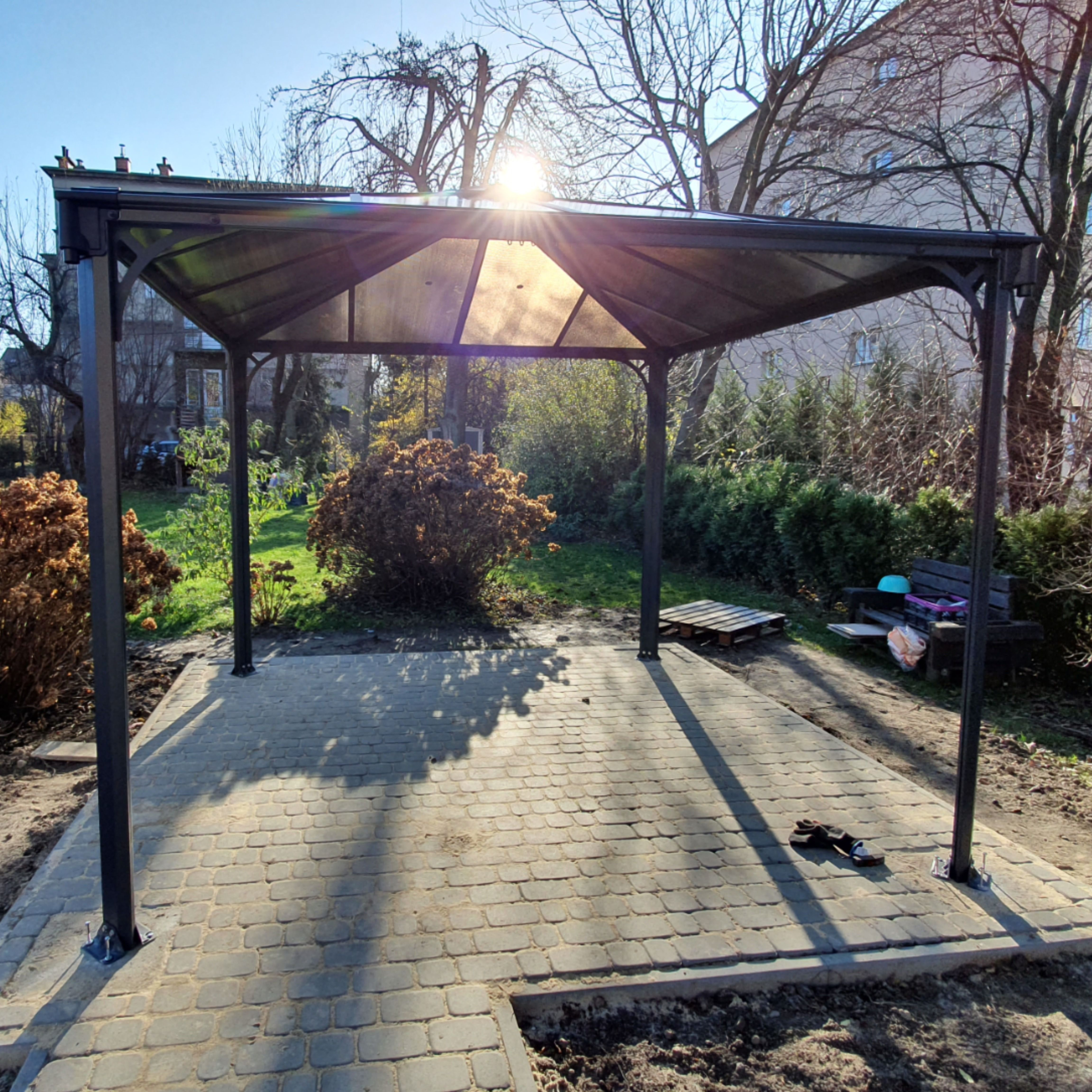 Nowoczesna Altana Metalowa Palermo 3 6 X 3 6 M Altany Ogrodowe Outdoor Patio Umbrella Outdoor Decor