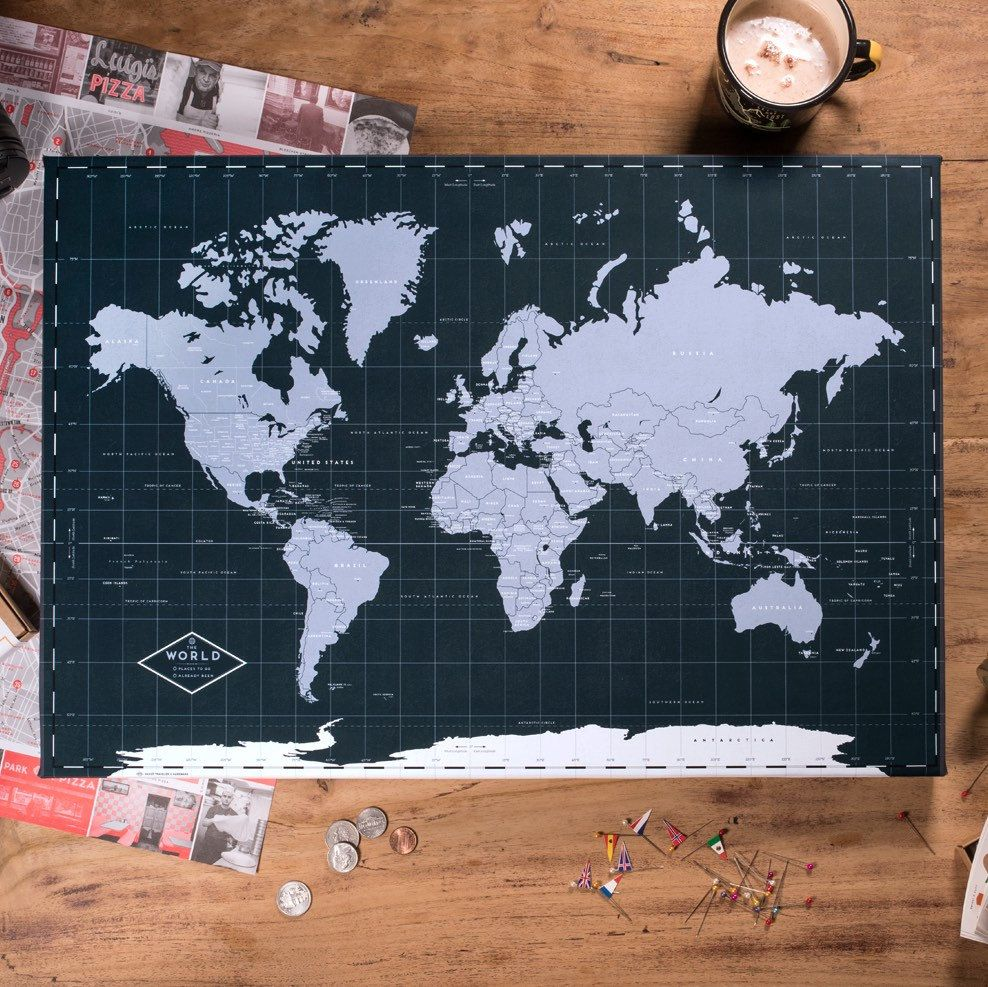 Push pin world map canvas navy ready to hang 240 pins 198 push pin world map canvas navy ready to hang 240 pins 198 world flag sticker pack included gift for travel gumiabroncs Gallery