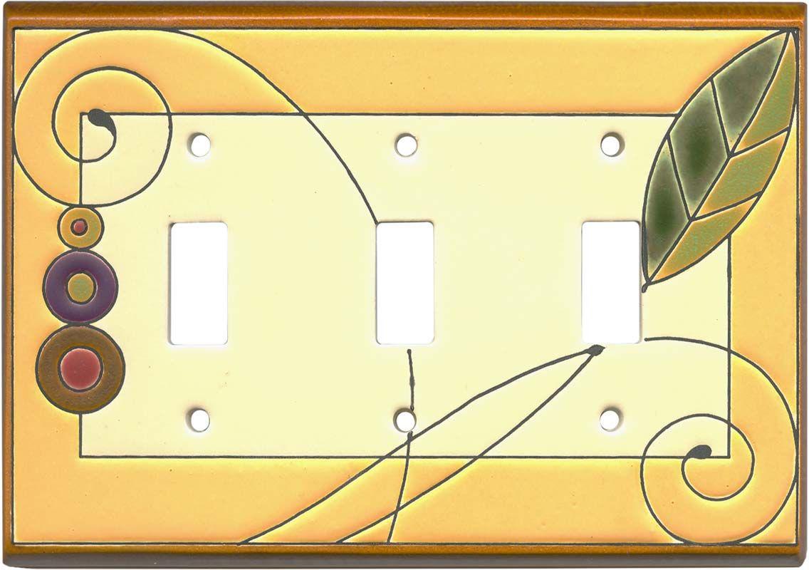 Leaf Spiral Ceramic | switchplates | Pinterest | Ceramic light ...