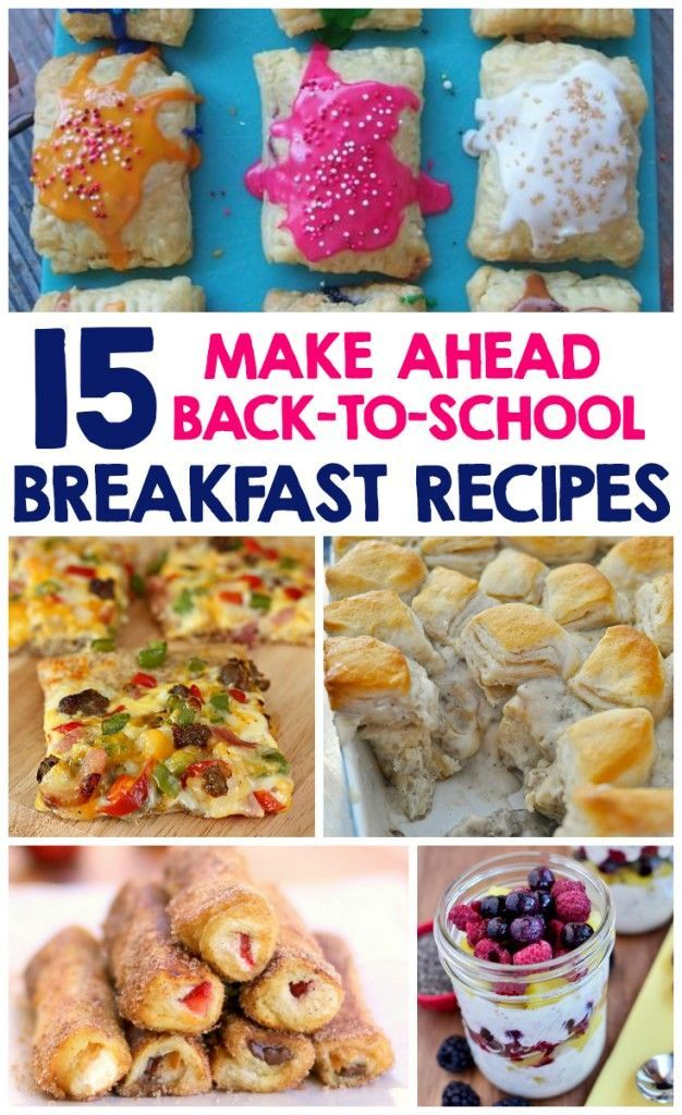 15 Make Ahead Back-To-School Breakfast Recipes for a hot, healthy start to the day. Perfect ideas to make the night before for an easy weekday morning routine. (Breakfast Recipes Make Ahead)