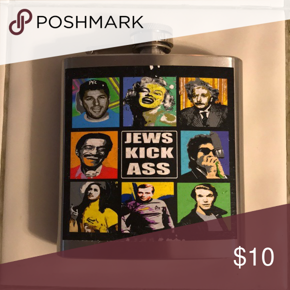 jews kick ass flask funny flask with iconic jews on it Other