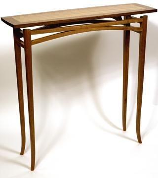 Custom Made Console Table (Mahogany, Zebrano, Merbau)