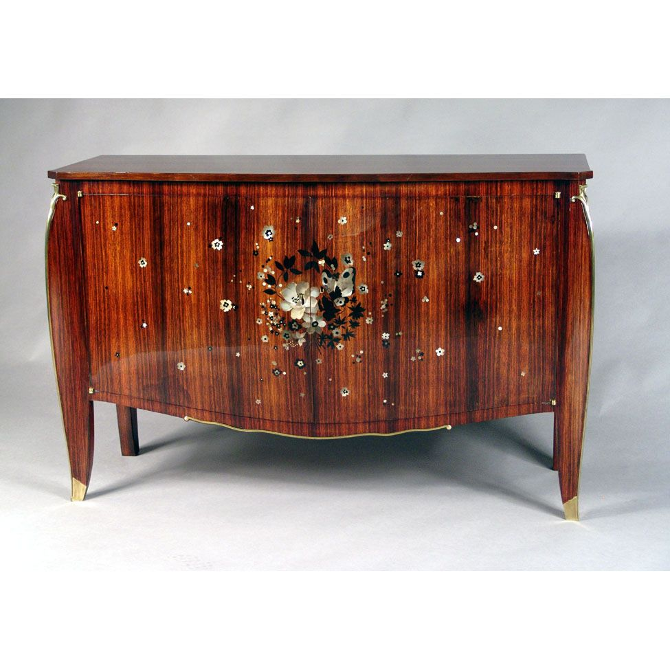 Jules Leleu Art Deco Sideboard Cabinet France 1930 Art Deco  # Meuble Tv Oldy