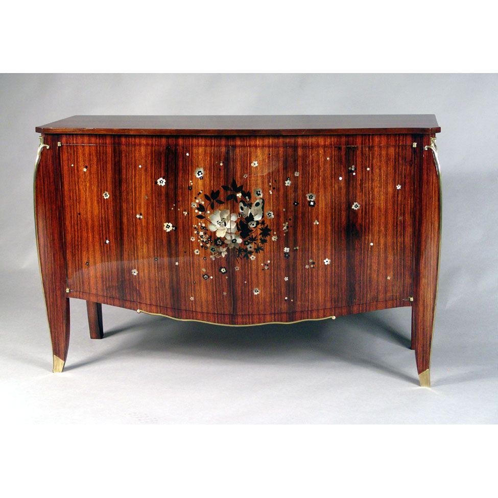 Jules Leleu Art Deco Sideboard Cabinet France 1930 Art Deco  # Meuble Tv Oldy