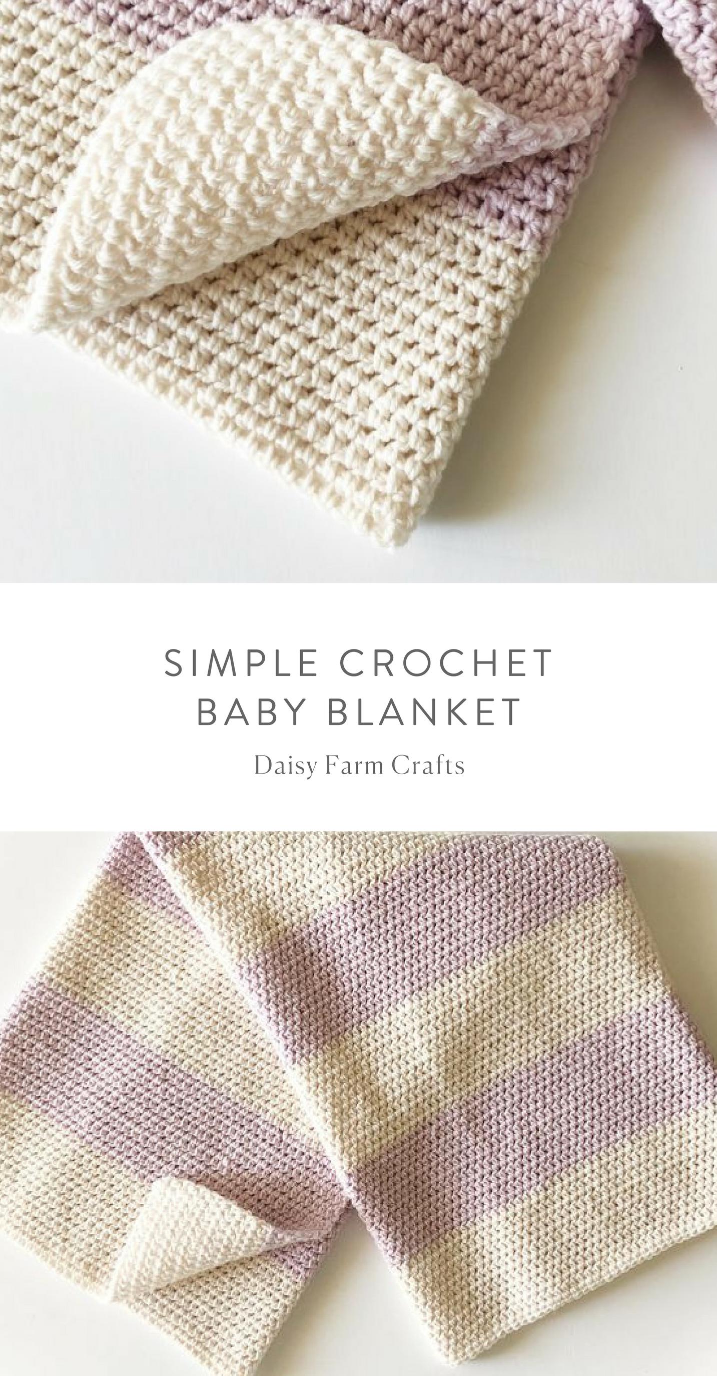 Free Pattern - Simple Crochet Baby Blanket #crochet | Crochet ...