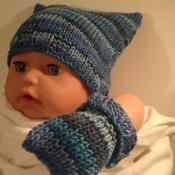 Square Tea Bag Hat By Sukiishandknits Knitting Pattern Baby Hat Free Pattern Baby Hat Patterns Knitting