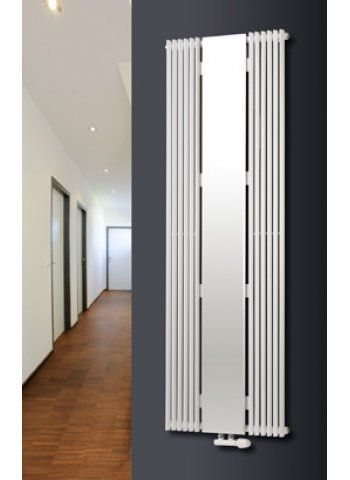 Aurora mirror vertical designer tube radiator bathroom - Designer vertical radiators for kitchens ...