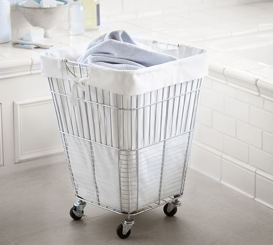 Chrome Hamper With Images Laundry Hamper Laundry Room