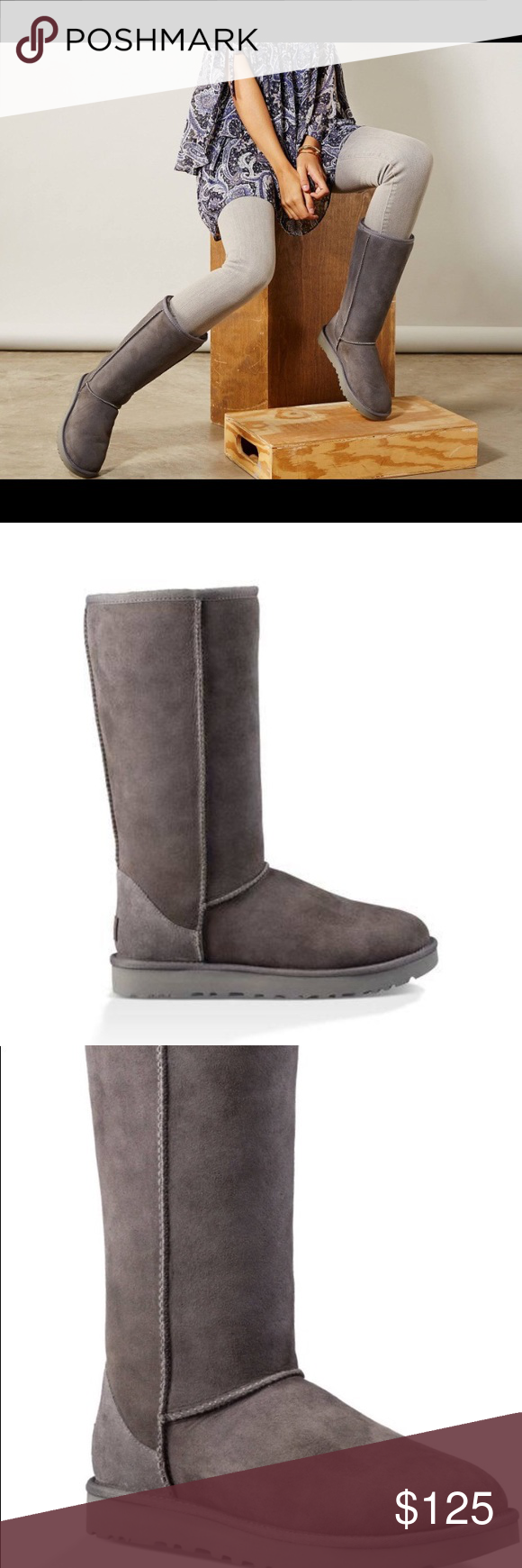 6b8d028976d6 Ugg Women's Classic Tall II Boots Grey NEW Ugg Women's Classic Tall II Boots  new never worn missing shoe box but protected in clear plastic.