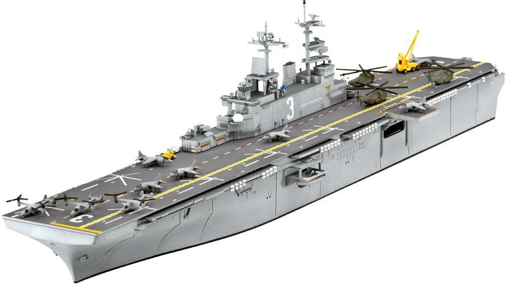 Revell 1 700 uss kearsarge lhd 3 plastic model kit cool for Porte helicoptere