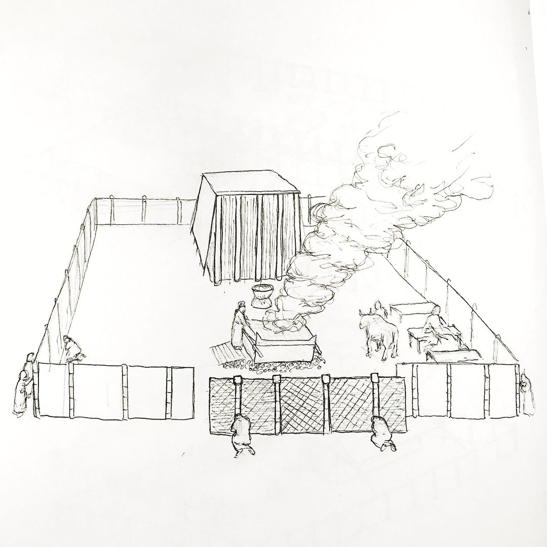Several Reference Drawings Of The Tabernacle Based Off