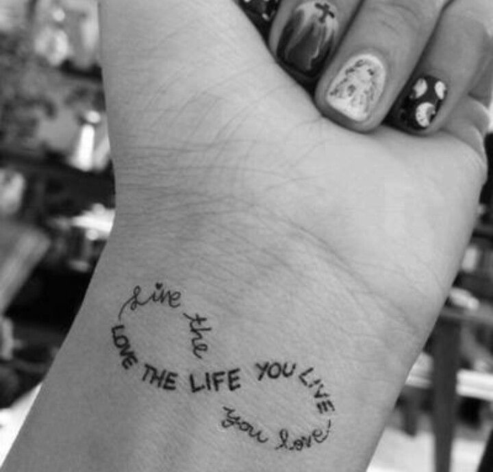 Not These Words But Words As The Infinity Symbol Tattoo