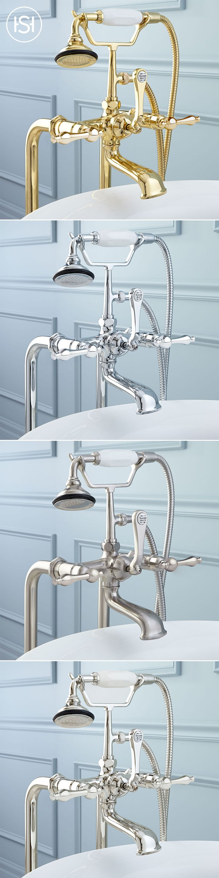Freestanding Telephone Tub Faucet, Supplies, Valves and Drain ...