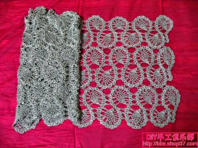 Punto crochet para tejer encaje / patrón | tejidos, costuras ...