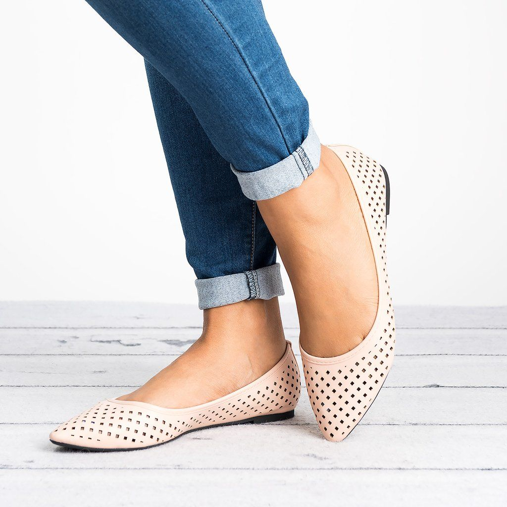 Mesh Lace-up Daily PU Pointed Toe Wedge Loafers | Wedge