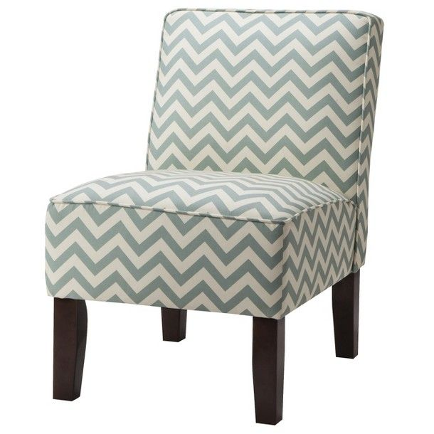 Burke Armless Slipper Chair   Blue Chevron : Target