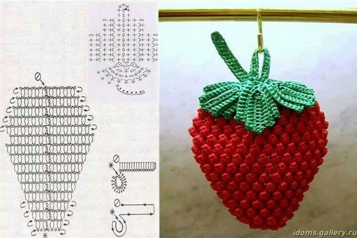 Strawberry Potholders And Hotpads Pinterest Crochet Crochet