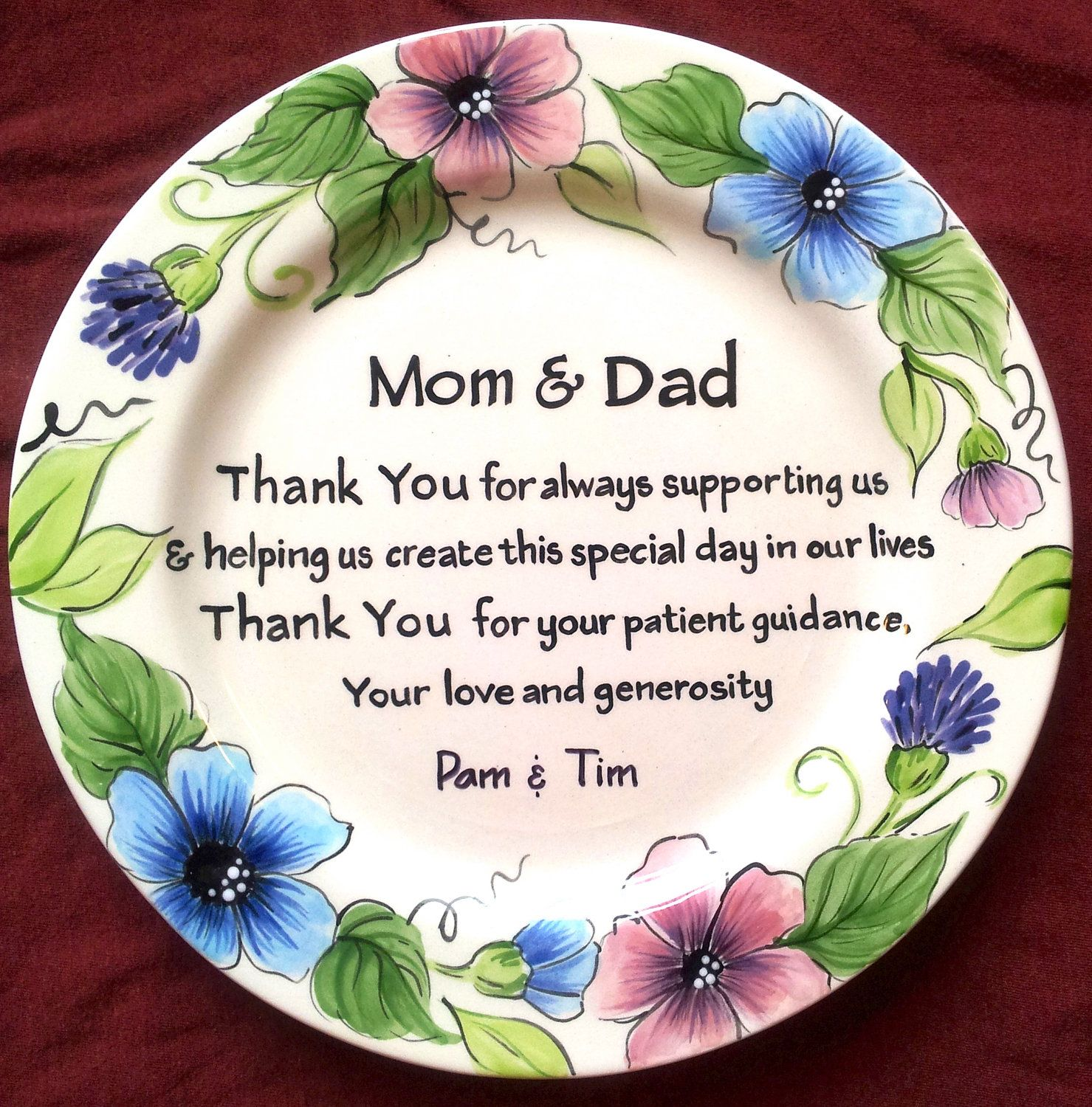 Wedding MOTHER of the BRIDE GIFT personalized to Mom and Dad ...