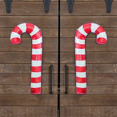 Big Candy Cane Yard and Porch Decorations Outdoor Christmas Enchanting Large Candy Cane Decorations